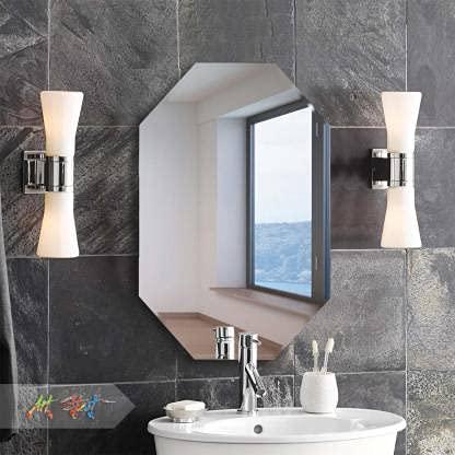 Quality Glass Frameless Mirror Home Decor Mirror For Bathrooms Wall Mirror Basin Mirror Size 18 Inch X 24 Qg 02 Quality Venetian Mirror
